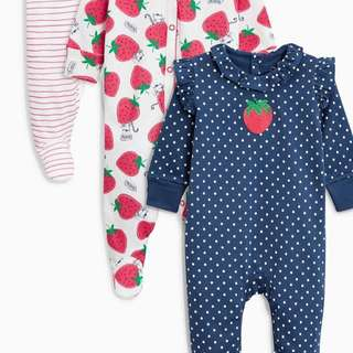 Baby next sleepsuit 3pcs