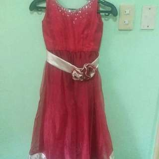 RED GOWN (KIDS)