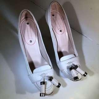 Celine White Pumps