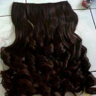 hair clip dark brown / hair clip warna coklat tua