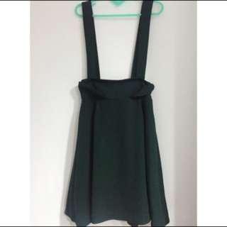 森林系墨綠吊帶裙