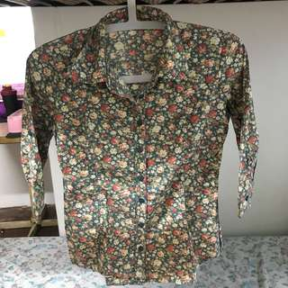 Hotkiss Floral Button Down Polo