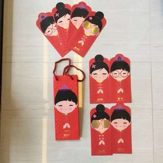 DBS red packets with carrier 6pcs