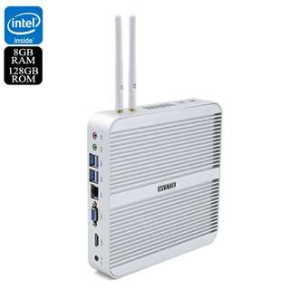 Hystou FMP03 Barebones Mini PC - Windows 10 Licensed, 8GB RAM, i5-5200U Processor, SATA Support, 128GB Memeory, Wi-Fi (CVAIA-E862-128GB)