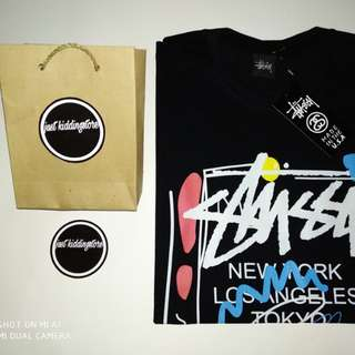 Kaos distro bm original stussy black