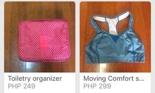 Bundle! Sports bra and bath organizer