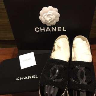 Chanel 草鞋 平底鞋 草編鞋