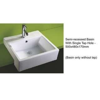 Wash Basin - Semi-recessed