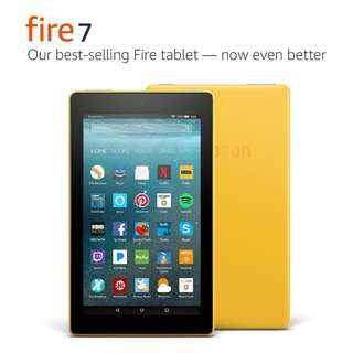 Amazon Fire 7 Tablet with Alexa 7 Inch Display 8GB YELLOW 7th Gen