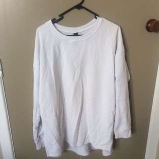 Baggy oversized white sweater