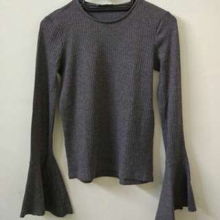 ZARA Bell-Sleeve Top