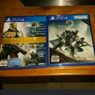 Destiny 1 and 2 for Playstation 4
