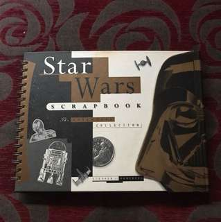 Star Wars Scrapbook with invite for screening of Return of Jedi in USA