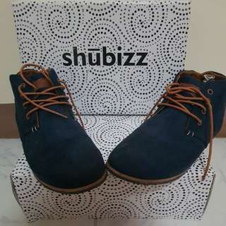 Shubizz Blue low-cut boots