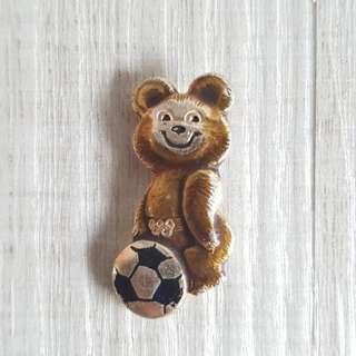 1980 Moscow Olympics Misha BearPin