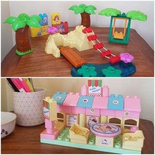 Dora and Hello Kitty blocks