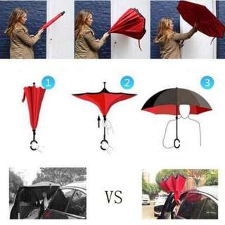 New Premium Reverse Umbrella (with trendy sling pouch)