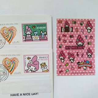 Sanrio game master my melody stamp 紀念 郵票 兩款