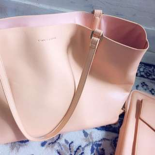 Charles & Keith reversible bag