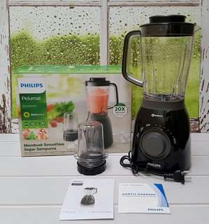 PHILIPS BLENDER PLASTIC HR2157 TRITAN SMOOTHIES - 2 LITER BONUS MILL