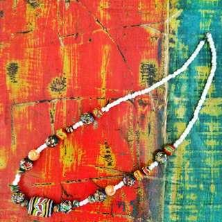Kalung Ethnic / kalung hippie / kalung gaul / kalung batu / batu kalimantan