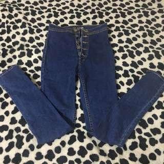 Punny Jeans High Waist Pants