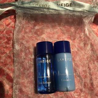 LANEIGE Perfect Renew Skin Refiner / Emulsion Trial / Sample / Travel Kit (2 Items)