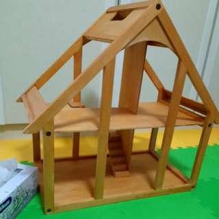 Preloved Wooden Dollhouse $50