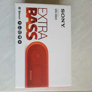 Sony Wireless Speaker (SRS-XB20)(Orange Red)