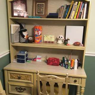 Beautiful antique solid wood desk/bookcase