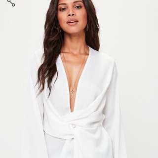 Wrap blouse size US 2