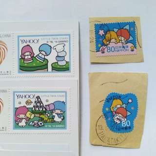Sanrio game master little twin stars stamp 紀念郵票