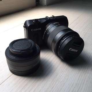 CANON EOS M + Fix Lens 22 mm + macro lens