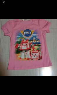 Robocar Poli Instock t Shirt Brand New pink-5-6yrs old blue 2-3yrs old