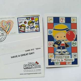 Sanrio game master patty & jimmy stamp & card 紀念 郵票
