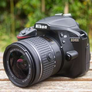 Kredit Dp 10%  Nikon D3400 DSLR Camera with 18-55mm - Cicilan tanpa kartu kredit