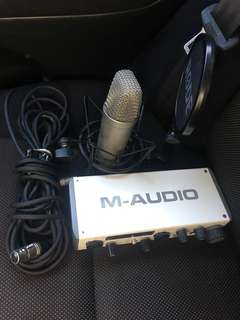 Rode Microphone + Audio Interface