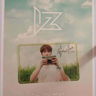 WTT IZ All You Want Transparent Jihoo Card