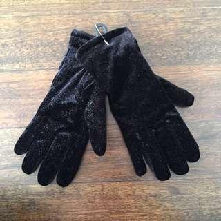 Black Velvet Gloves
