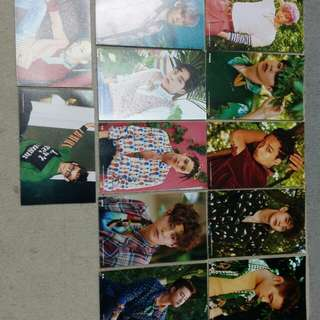 EXO OFFICIAL PHOTOCARDS POSTCARDS 4X6