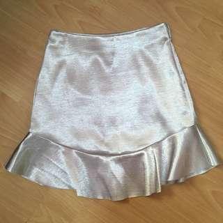 H&M Silver Skirt
