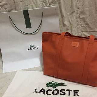 lacoste large tote authentic