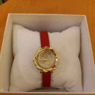 美女與野獸玫瑰花形手錶 / Beauty and the Beast rose shape watch