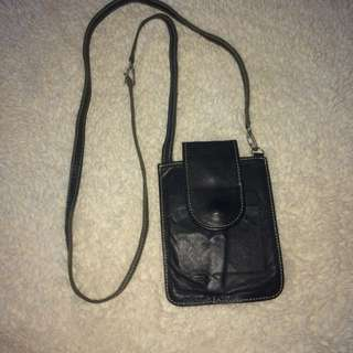 Leather Ranch sling bag