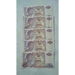 Code : Uang Kuno 5 Rupiah