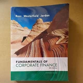 Fundamentals of Corporate Finance 8th Edition