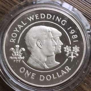 Bermuda 1981 Silver Proof Coin