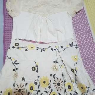 [PRE-LOVED] Skirt & Blouse