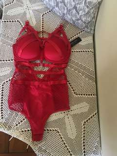 RED PLAYBOY LINGERIE