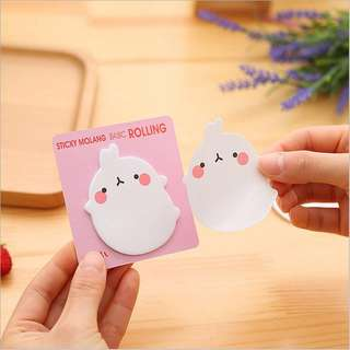 INSTOCK Molang Post It Notes BN Sticky Pad